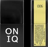 ONIQ Гель-лак для ногтей PANTONE 006, цвет Yellow iris