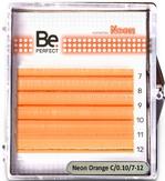 Be Perfect Цветные ресницы Neon Orange MIX 6 линий (D/0.10/7-12)