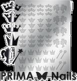 Prima Nails Металлизированные наклейки PR-002, Серебро