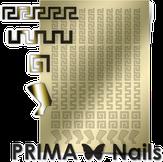 Prima Nails Металлизированные наклейки OR-001, Золото