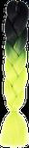HIVISION Канекалон для афрокосичек черный/неоново- зеленый B13
