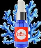 Hello Beauty Сыворотка для лица перед макияжем, с красными водорослями и 24-каратным золотом 10 мл.