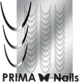 Prima Nails Металлизированные наклейки CL-001, Серебро
