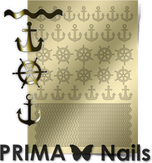 Prima Nails Металлизированные наклейки SEA-001, Золото
