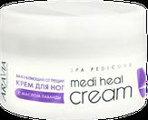 Aravia Крем для ног регенерирующий от трещин Medi Heal Cream с маслом лаванды, 150 мл. 4024