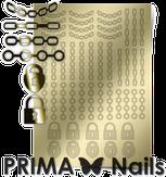 Prima Nails Металлизированные наклейки UZ-01, Золото