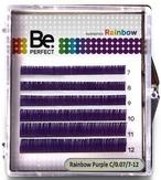 BePerfect Цветные ресницы Rainbow Purple MIX 6 Линий (D/0,10/7-12)