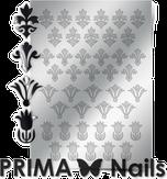 Prima Nails Металлизированные наклейки PR-004, Серебро