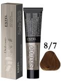 Estel Professional De Luxe Silver Стойкая крем-краска для седых волос 8/7, 60 мл.