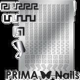 Prima Nails Металлизированные наклейки OR-001, Серебро