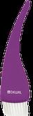 Dewal Кисть для окрашивания прозрачная фиолетовая, с белой щетиной, широкая 50 мм. T-13violet