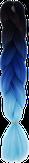 HIVISION Канекалон для афрокосичек черный/синий/голубой