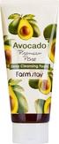 FarmStay Avokado Premium Pore Deep Cleancing Foam Пенка очищающая с экстратом авокадо 180 мл