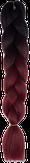 HIVISION Канекалон для афрокосичек черный/темно-вишневый # 05