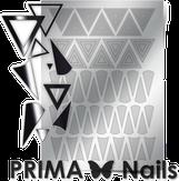 Prima Nails Металлизированные наклейки GM-04, Серебро