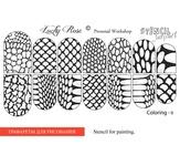 Lucky Rose Слайдер-раскраска Stencil Coloring-9