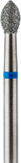 Владмива Фреза алмазная пламя, D3,3 мм. синяя, средняя зернистость 806.257.524.033