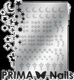 Prima Nails Металлизированные наклейки W-03, Серебро