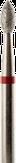 Modelon Фреза алмазная пламя (капля), D2,3 мм. красная, мягкая зернистость 806.257.514.023