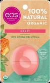 Eos Organic Honey Бальзам для губ с медовым ароматом (на картонной подложке)