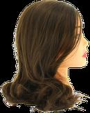 Dewal Голова учебная протеиновые волосы, цвет шатен 30-40 см. FI-2022M-6