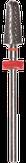 Irisk Насадка твердосплавная Т-15 (кукуруза), красная (мелкая зернистость)