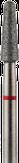 Владмива Фреза алмазная конус, D3,1 мм. красная, мягкая зернистость 806.199.514.031