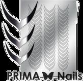 Prima Nails Металлизированные наклейки CL-004, Серебро