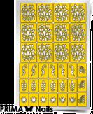 """Prima Nails Трафарет для дизайна ногтей, """"Растительный узор 2"""""""