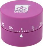 Dewal Таймер механический круглый фиолетовый 4,5х6 см