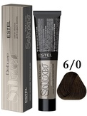 Estel Professional De Luxe Silver Стойкая крем-краска для седых волос 6/0, 60 мл.