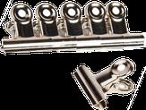 Irisk Зажим-прищепка для создания арочных ногтей (металлическая), 5 шт. в упаковке
