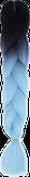 HIVISION Канекалон для афрокосичек черный/голубой # 17