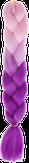 HIVISION Канекалон для афрокосичек розовый/сиреневый RHM38 # 37