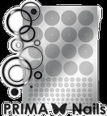 Prima Nails Металлизированные наклейки GM-02, Серебро