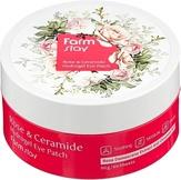 FarmStayУвлажняющие гидрогелевые патчи для области вокруг глаз с экстрактом дамасской розы и керамидами, 60 шт