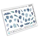 BPW Style Слайдер-дизайн Голубые листья