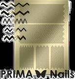 Prima Nails Металлизированные наклейки GM-06, Золото