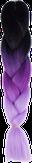 HIVISION Канекалон для афрокосичек черный/темно-сиреневый/сиреневый # 52
