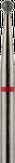 Владмива Фреза алмазная шар, D1,8 мм. красная, мягкая зернистость 806.001.514.018