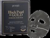 Petitfee Black Pearl & Gold Hydrogel Mask Pack Гидрогелевая маска  для лица с черным жемчугом и золотом