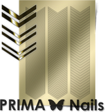 Prima Nails Металлизированные наклейки GM-07, Золото