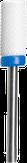 Irisk Фреза закругленный цилиндр керамическая, синяя (средняя зернистость)