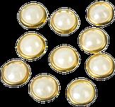 Irisk Клепки с жемчужинами для декорирования, цвет белый 5 мм. 419