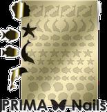 Prima Nails Металлизированные наклейки SEA-004, Золото