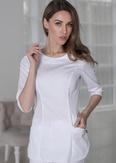 Лечи Красиво! Блуза женская 118 (сатори), размер 46, цвет белый-2