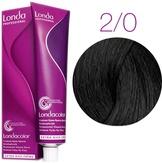 Londa Color Стойкая крем-краска 2/0 черный 60 мл.