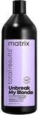 Matrix Unbreak my blond Шампунь укрепляющий без сульфатов для осветленных волос 1000 мл.