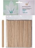 Italwax Шпатели деревянные средние  1х11,4 см. 100 шт.