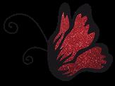 El Corazon Цветной глиттер Красный 0,1 мм нестойкие